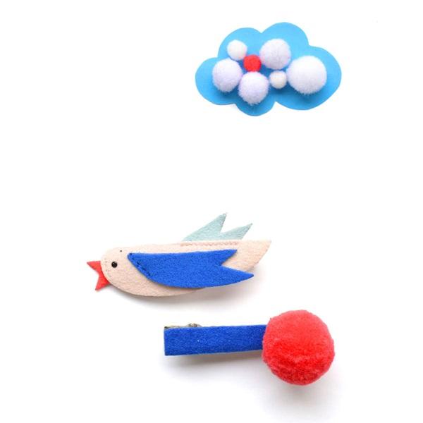 헬로시소[HELLOshiso] bird pom clips