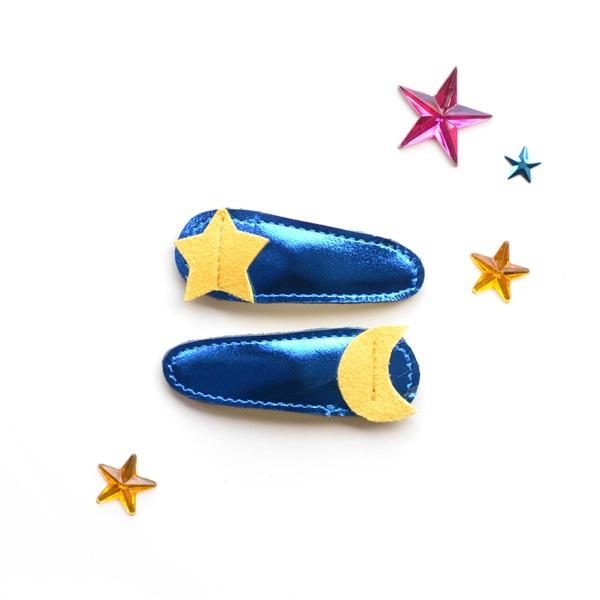 헬로시소[HELLOshiso] moon + star clips