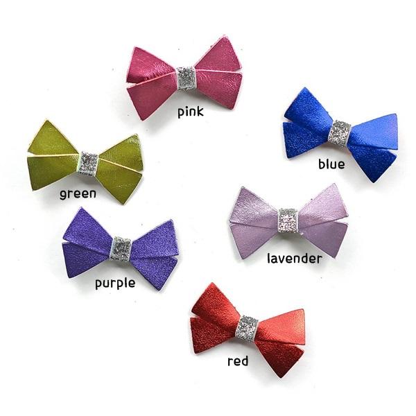 헬로시소[HELLOshiso] metallic bow clip
