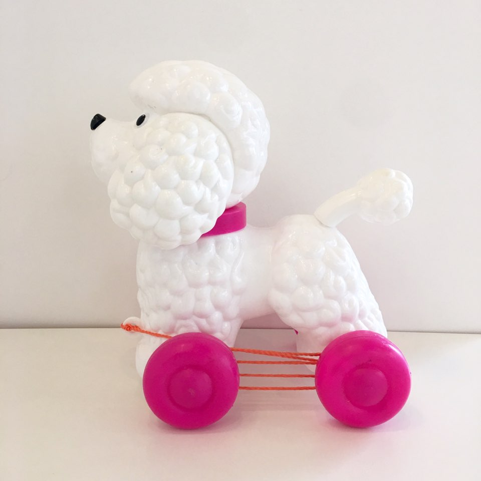 Pull-along Dog Poodle(Pink)