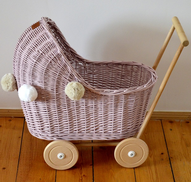 Doll stroller - low - pink