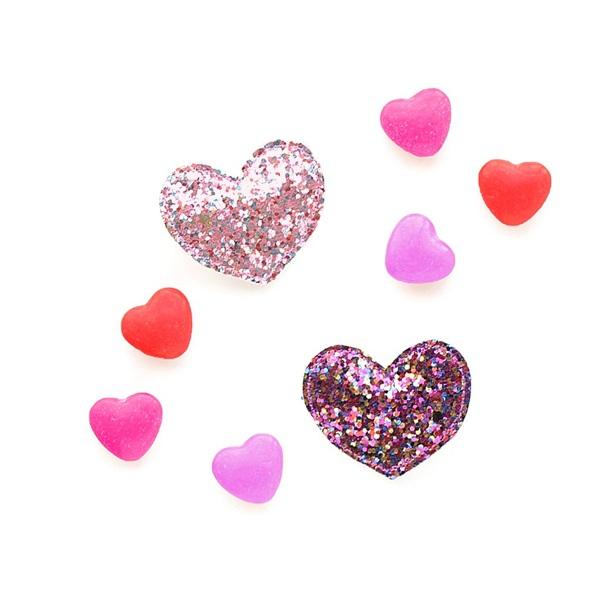 헬로시소[HELLOshiso] glitter heart clips
