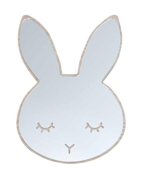 Sleepy bunny mirror-wood