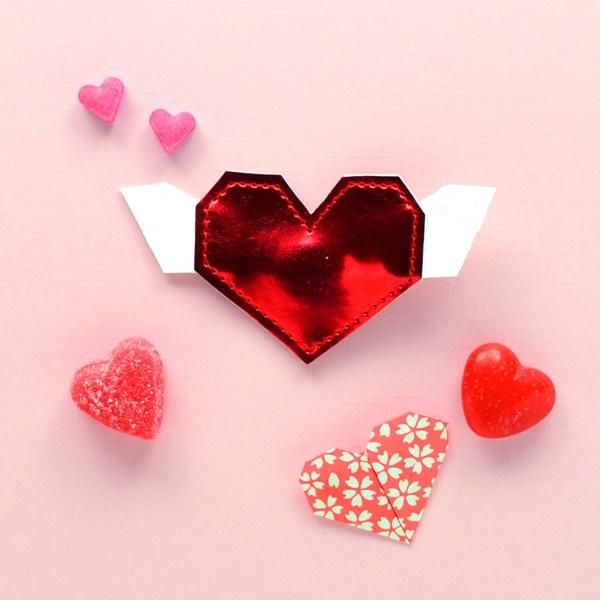 ORIGAMI HEART CLIP