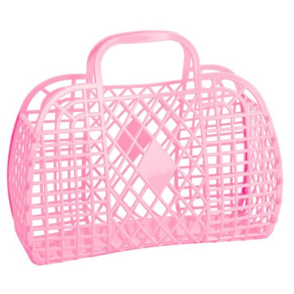 RETRO BASKET - Large Bubblegum Pink