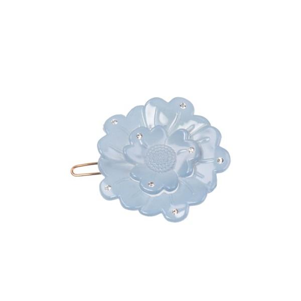 Bondep[본뎁]Small flower clip - light blue