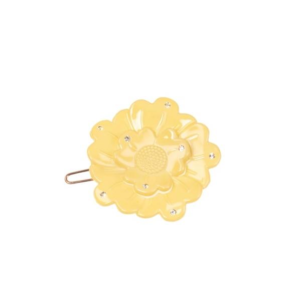 Bondep[본뎁]Small flower clip - light yellow