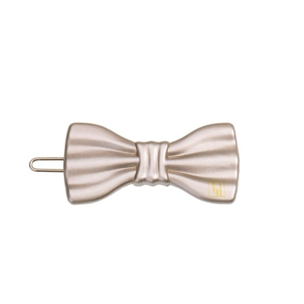Small Bow clip - Beige gloss